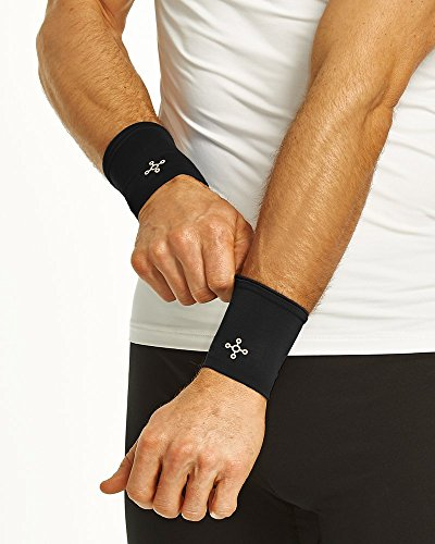 Tommie Copper Men's Recovery Compression Wrist Sleeves Bl...