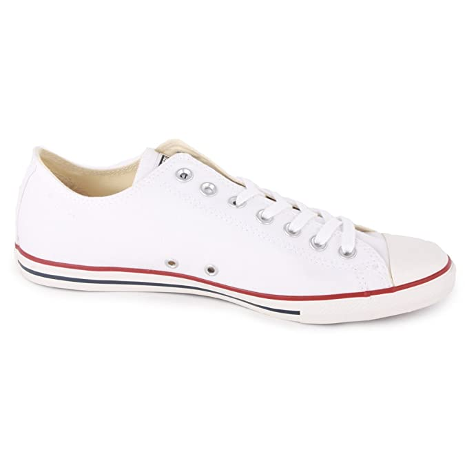 0ea40117df77 Converse Chuck Taylor All Star Lean Ox 142270F Unisex Laced Canvas Trainers  White - 10  Amazon.co.uk  Shoes   Bags