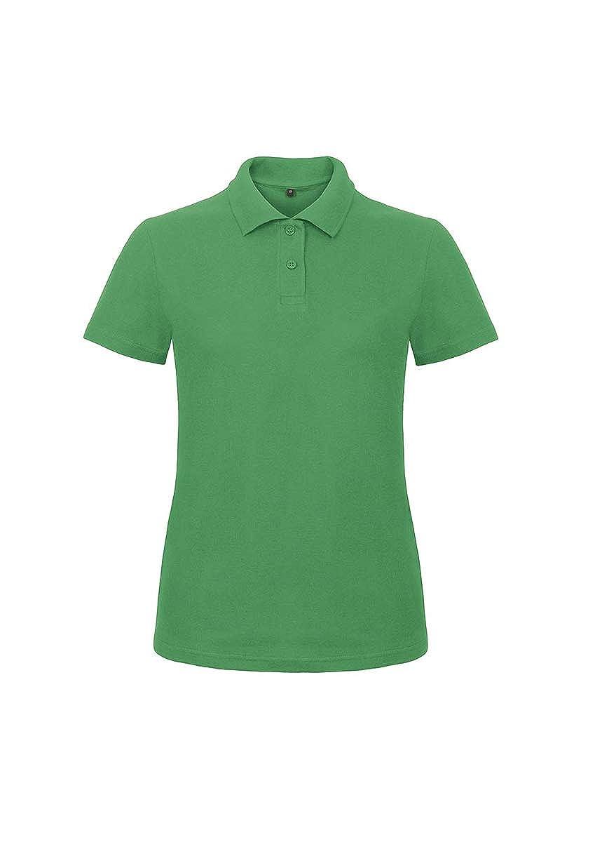 Polo da Lavoro Donna T-Shirt Manica Corta con Colletto Cotone piqu/è B/&C ID.001