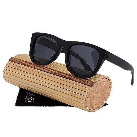 Gafas de sol hechas a mano, UV400 Polarizing Unisex Bamboo ...