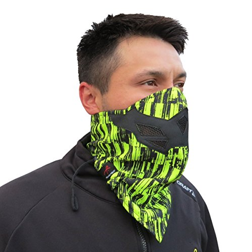 Got Black Snowboarding (Half Face Mask for Cold Winter Weather. Use this Half Balaclava for Snowboarding, Ski, Motorcycle. (Many Colors) (Green-Black))