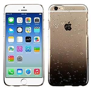 MyBat iPhone 6 Gradient Water Drop Back Protector Cover - Retail Packaging - Transparent/Black