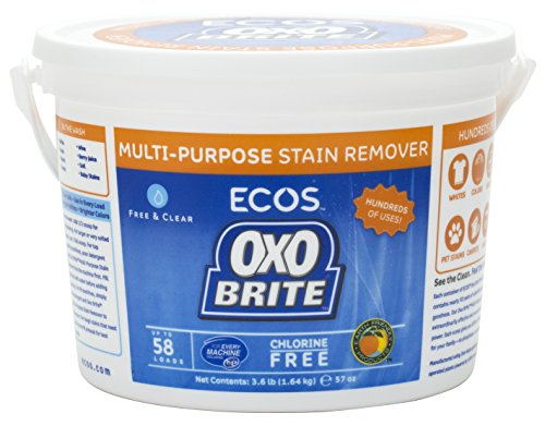 Earth Friendly - OXO Brite Color Safe Whitener & Brightener For Laundry & Stain Removal Fragrance-Free - 3.6 lbs. (2-Pack) - Stain Removal Silk
