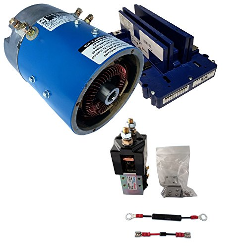 Golf Cart Motors - Yamaha Golf Cart Motor & Controller for Speed : Series (0-1K) Vehicles : +5% Torque 19 mph - 170-006-0001 Motor w/ 400 Amp Controller (Blue Option) - includes Solenoid kit (400 Amp Controller)