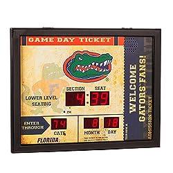 Team Sports America NCAA Bluetooth Scoreboard Wall Clock, Florida Gators