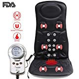 1byone Shiatsu Deep-Kneading Massager with Heat and Car Adapter for Neck, Shoulder, Back, Arms, Legs Massage