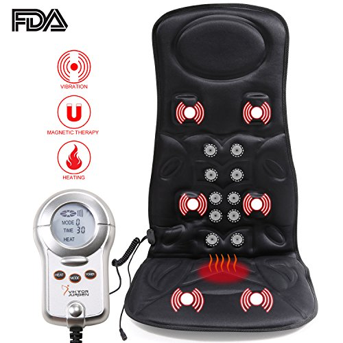 VIKTOR JURGEN 6-Motor Vibration Massage Seat Cushion For ...