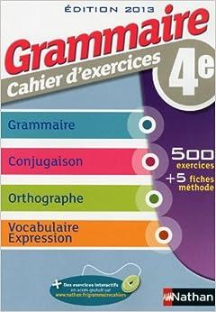 Torrent Descargar Grammaire 4e Cahier D'exercices De Epub