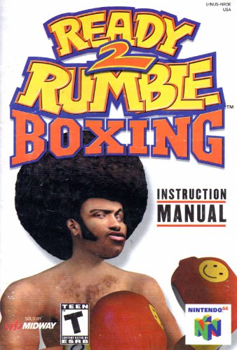 Ready 2 Rumble Boxing N64 Instruction Booklet (Nintendo 64 Manual Only) (Nintendo 64 Manual)
