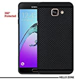 Hello Zone Exclusive Premium Quality Dotted Matte Finish Soft Rubberised Back Case Cover For Samsung Galaxy A5 2016 - Black