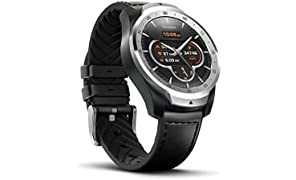 TicWatch Pro Bluetooth Smart Watch, Layered Display, NFC Payments, Google Assistant, Wear OS by Google (Formerly Android Wear), Compatible with iPhone and Android (Silver)