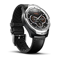 TicWatch Pro Bluetooth Smart Watch, Layered Display, NFC Payments, Google Assistant, Android Wear, Compatible with iOS and Android (Silver)