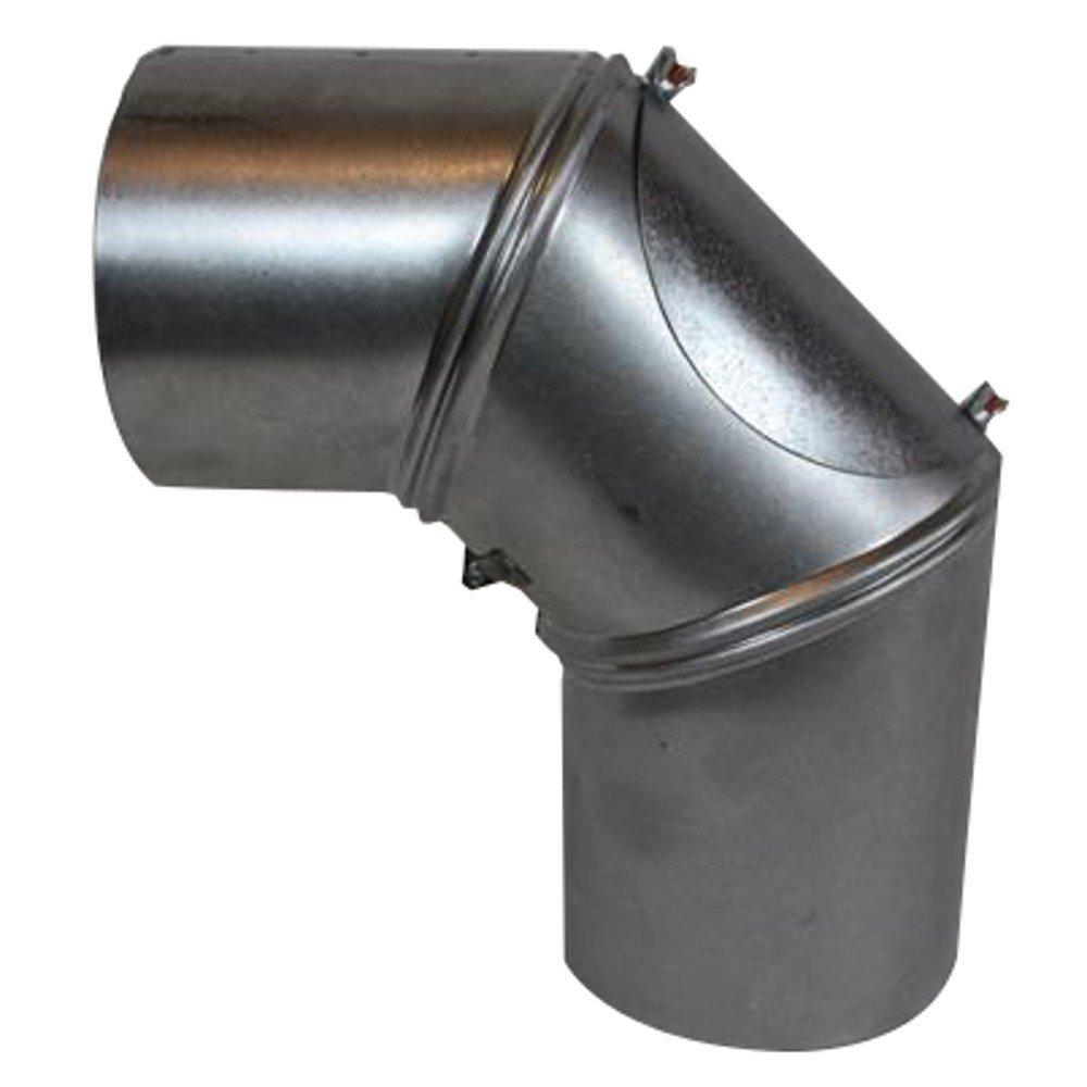 Ofenrohr Bogenknie 3tlg verstellbar 0-90° Ø120mm Senoth schwarz m.T.