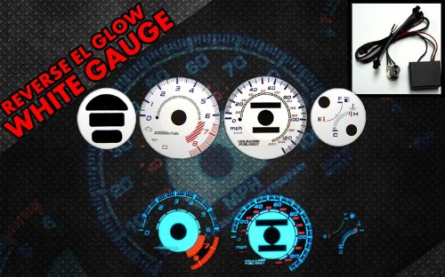 Brand New White Face Blue Indigo Reverse Glow Gauges For 93-97 Honda Del Sol w/ Tach RPM (I-321)