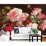 Carta Da Parati 3D Fotomurali Rose Rosa Foglie Verdi Camera da Letto Decorazione da Muro XXL Poster Design Carta per… 51orjnEWMRL. SS150