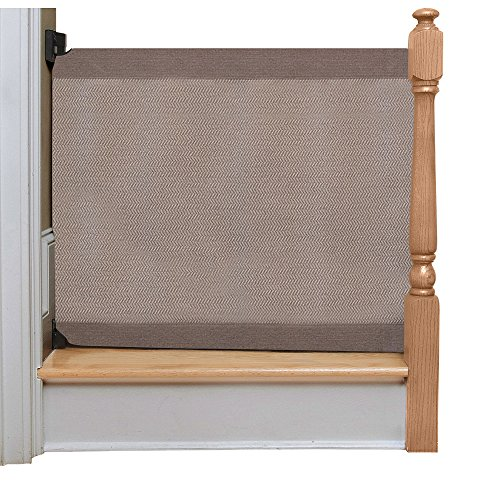 Cheap The Stair Barrier Wall to Banister Gate, Modern Grey, Regular
