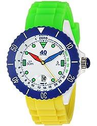 40Nine Quartz Plastic and Silicone Casual Watch, Color:Green (Model: 40NINE02/FUN30)