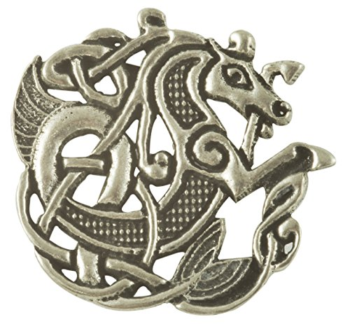 Pewter Womens Brooch - Celtic Sea Horse Pewter Brooch
