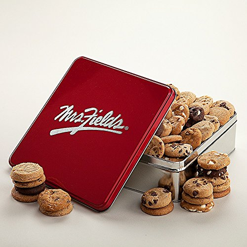 Shari's Berries - Mrs. Fields� Nibblers� Classic Tin - 60 Count - 60 Count - Gourmet Baked Good Gifts (Gourmet Gifts Delivered)