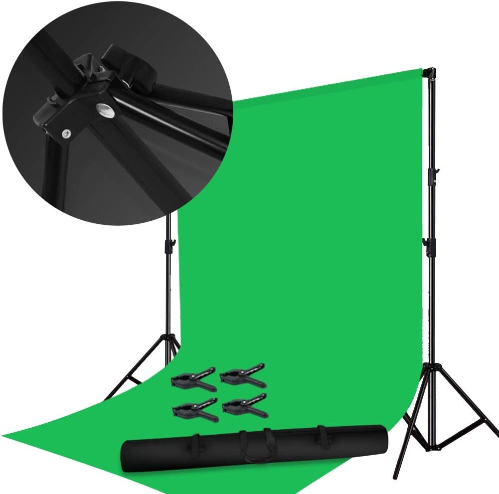 Backdrops For Photoshoot Background Clothing Photo Studio 3 Foot Stand Stable Telescopic Easy To Install Character Photo Outdoor, 6 Colors (Color : Green, Size : 300x300cm)