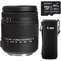 Sigma 18-250mm F3.5-6.3 DC OS HSM Macro Lens for Canon EF Cameras includes Sony