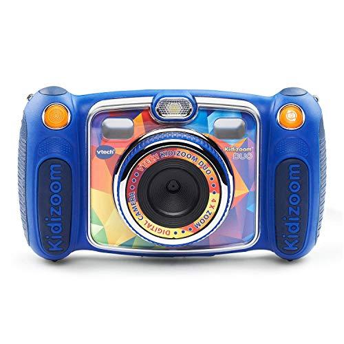VTech Kidizoom Duo Selfie Camera, Amazon Exclusive, Blue (Renewed)