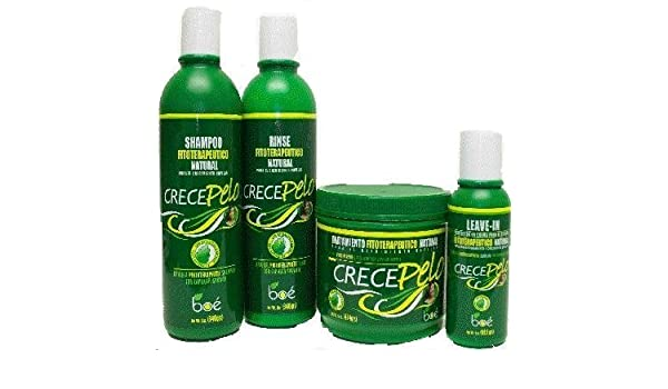 Crece Pelo - Combo Kit: Natural Phitoterapeutic Leave-in Help ...