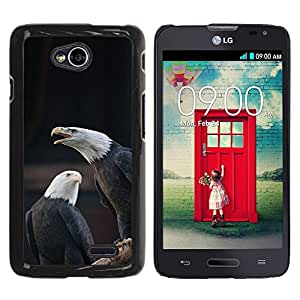 PC/Aluminum Funda Carcasa protectora para LG Optimus L70 / LS620 / D325 / MS323 eagle bald American national symbol / JUSTGO PHONE PROTECTOR