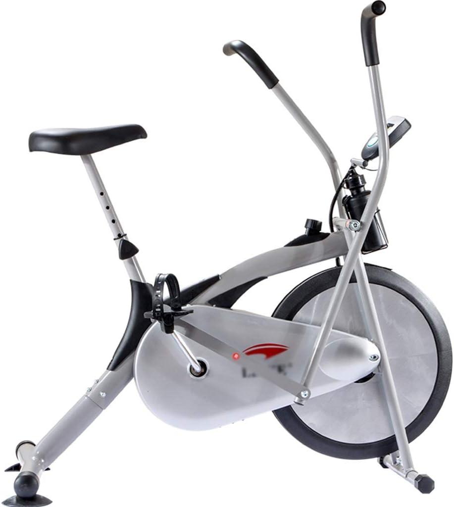 Bicicletas estáticas Spinning Máquina de Correr elíptica Bicicleta De Spinning Scooter Interior para Adelgazar Equipo De Ejercicios para Pies Y Manos (Color : Silver, Size : 108 * 55 * 110cm)