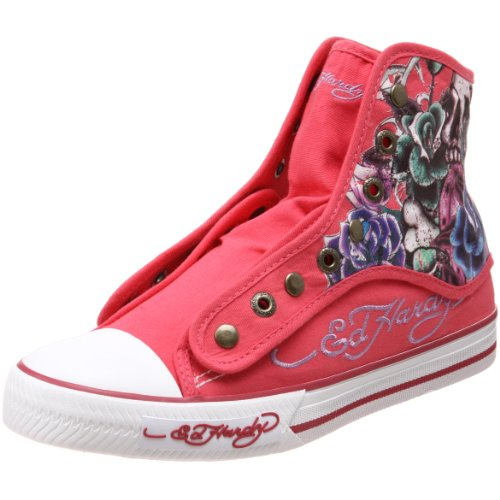 ED HARDY Women's Newcastle Fashion Sneaker,Fuchsia-10FHR406W,5 M US Ed Hardy Womens Sneakers