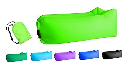 Amazon.com: TOPIE Tumbona hinchable, silla de aire original ...