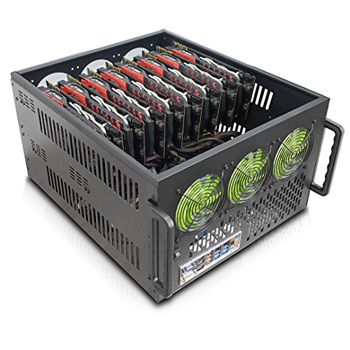 (Hydra II Rev. B 8 GPU 6U Case for Learning/Mining/Rendering Servers, Dual PSU)
