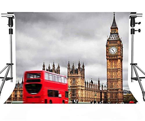 MEETS 7x5ft London Landmark Backdrop Big Ben Backdrop Photo Booth Studio Props Theme Party YouTube Backdrop -