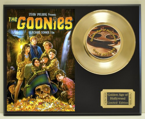 """""""Goonies"""", Limited Edition Gold 45 Record Display. Only 500 made. Limited quanities. FREE US SHIPPING"""