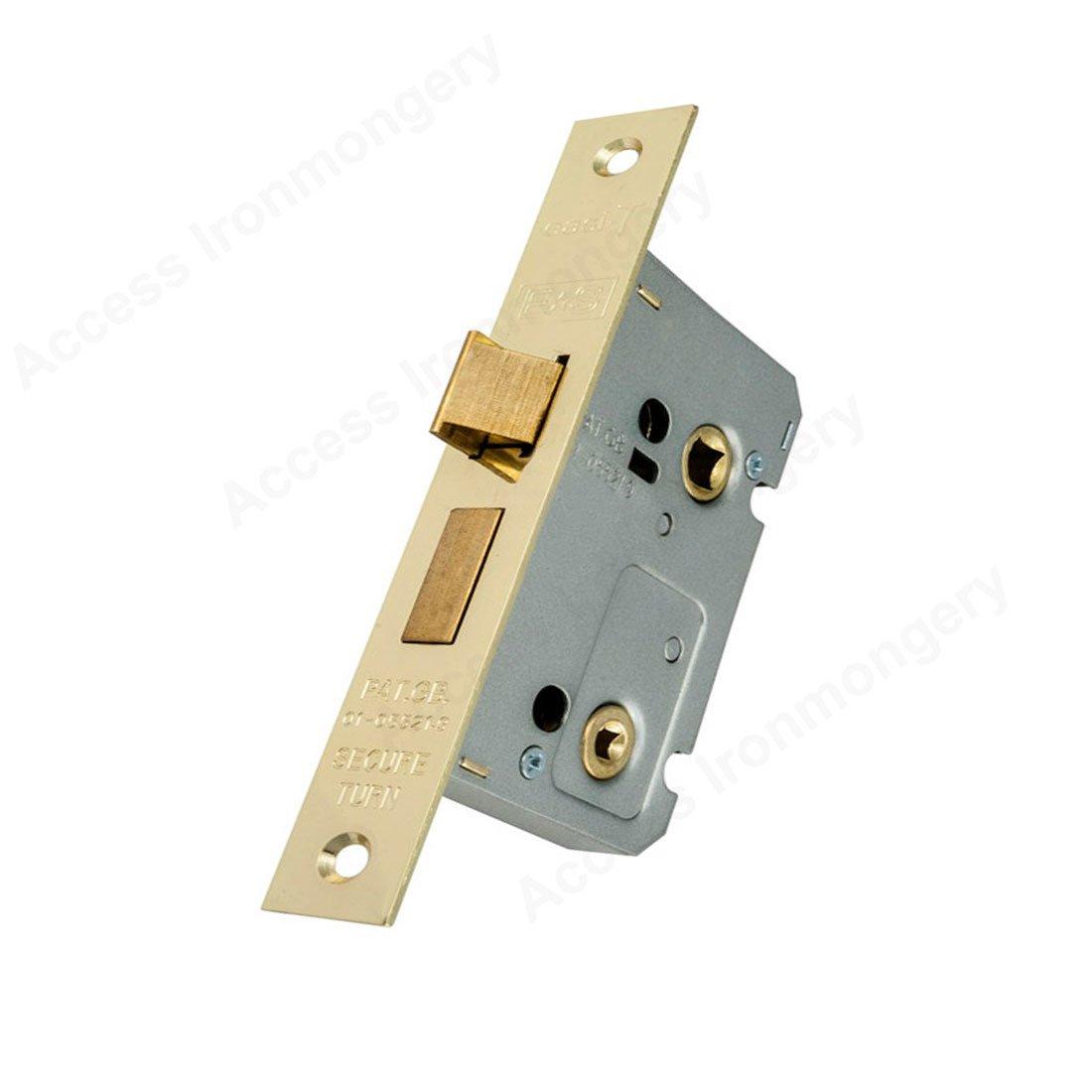 Carlisle Brass - BAE5025EB - EUROSPEC - Contract Locks Easi - T Contract Bathroom Lock 64mm(2.5') - Finish - Electro Brassed (EB)
