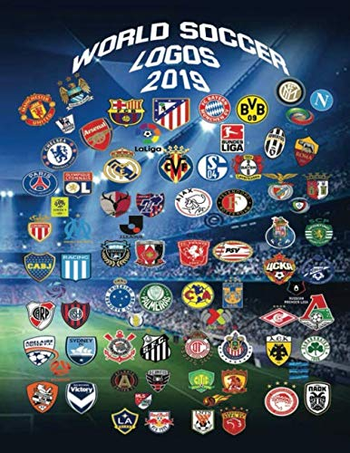 World Soccer Logos 2019: With over 150 logos to color in this unique book of club badges from the best football leagues in the world.