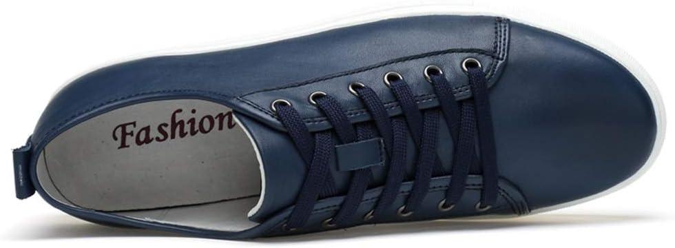 2018 Nieuwe Heren Mode Sportschoenen Vrije tijd Klassieke Pure Kleur Eenvoudige Low-Up Draagbare Sportschoenen Blauw XK4sPVI6
