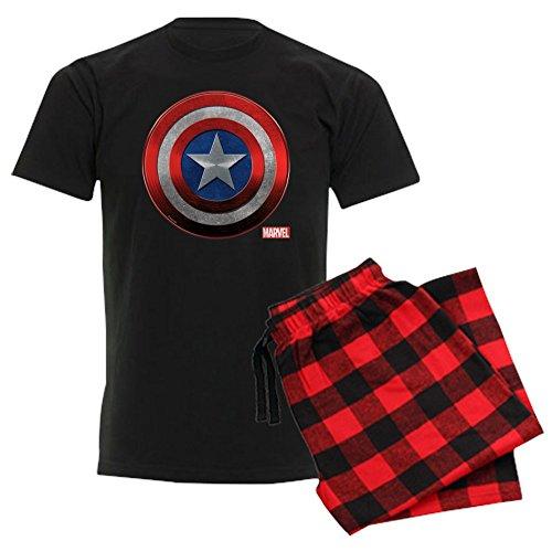 CafePress Captain America Grunge Unisex Novelty Cotton Pajama Set, Comfortable PJ -