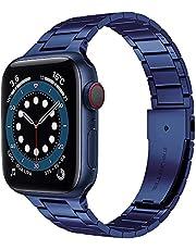 Miimall Jedyny w swoim rodzaju niebieski Premium stal szlachetna metal zapasowy pasek iWatch pasek do zegarka Apple Watch 44 mm 42 mm