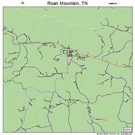 Amazon.com: Large Street & Road Map of Roan Mountain, Tennessee TN ...