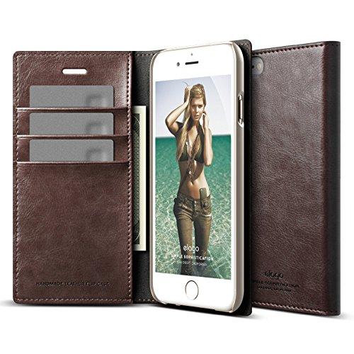 iPhone elago Leather Wallet Brown
