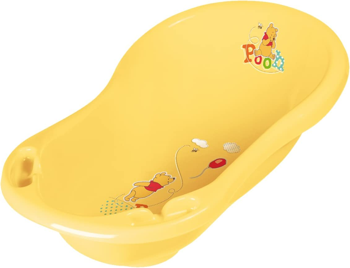 Disney Winnie the Pooh and Friends 84 cm Baby Bath Tub with plug and soap holders White