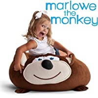 Bean Bagimals Bean Bagimal Bean Bag Chair, Marlowe the Monkey/Model: 7650FISH
