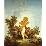 Canvas Prints Of Oil Painting 'Jean-Honore Fragonard - The Progress Of Love - Love The Sentinel, 1790-91' 24 x 30 inch / 61 x 75 cm , Polyster Canvas, Bed Room, Home Office And Home Theater Decoration