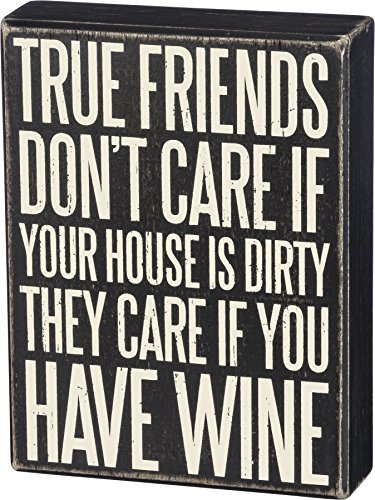 Primitives by Kathy Classic Box Sign, True Friends Don't Care