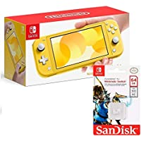 Nintendo Switch Lite Amarillo- Standard Edition + Micro SD 64GB Edicion NINTENDO