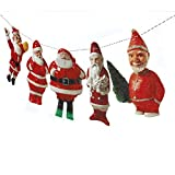 Vintage Christmas Santa Claus Garland - gorgeous handmade photographic reproductions