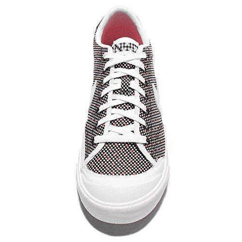 Nike Zoom All Domstol 2 Låga Kjcrd Mens Utbildare 867117 Gymnastikskor Svart Vit Åtgärder Röd 001