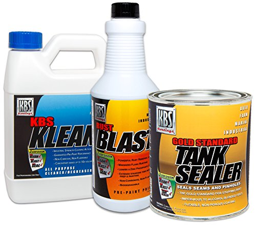 KBS Coatings 53000 Auto Fuel Tank Sealer Kit, Seals Up to 25 Gallon Tank