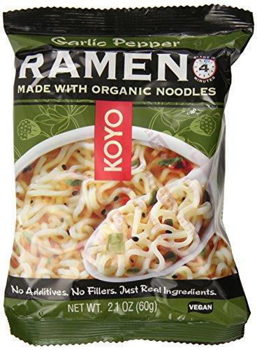 Koyo Ramen, Garlic Pepper, 2.1 Ounce (Pack of 12)